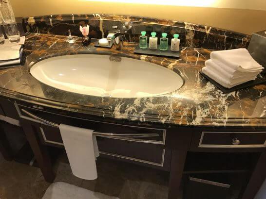シャングリラホテル東京の洗面台