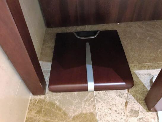 シャングリラホテル東京の体重計