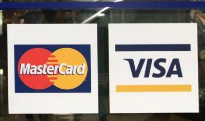 MastercardとVISAのロゴ