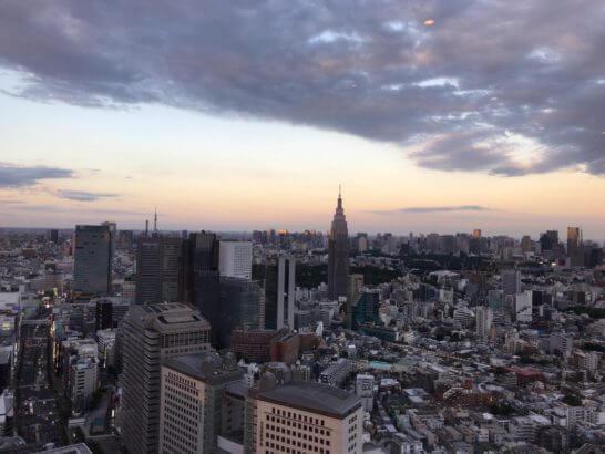 パークハイアット東京のジランドールからの眺め