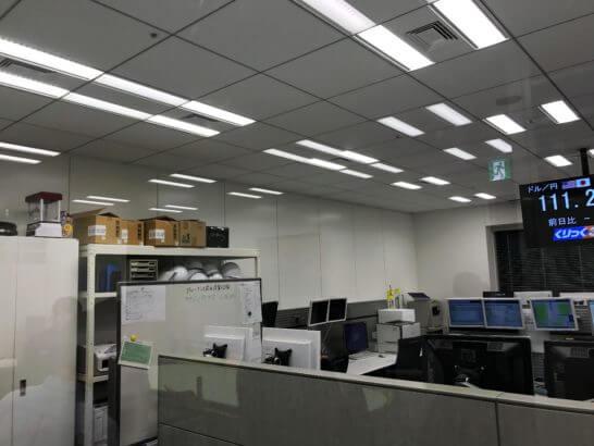 東京金融取引所の監視ルーム