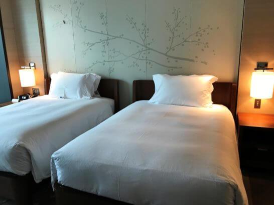 コンラッド東京のベッド