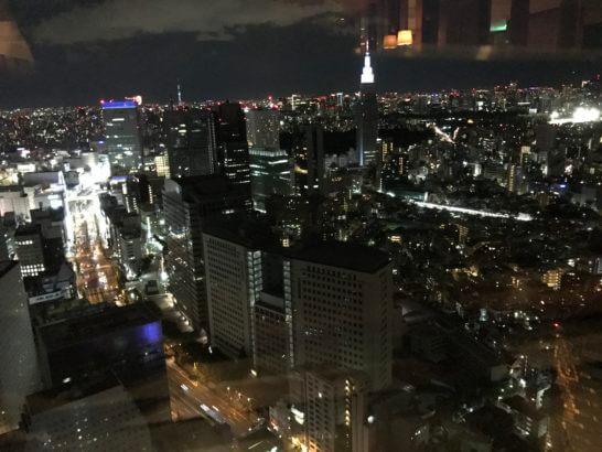 パークハイアット東京のジランドールからの眺め(20時頃)