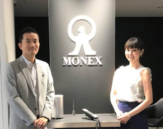 マネックスFX マーケティング部の安藤大輔さん、マネックスグループ 広報の松崎裕美さん - コピー