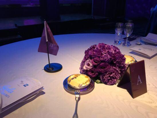 SPGガラディナーのテーブル(A)