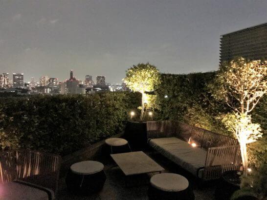 パレスホテル東京のクラブラウンジのバルコニー