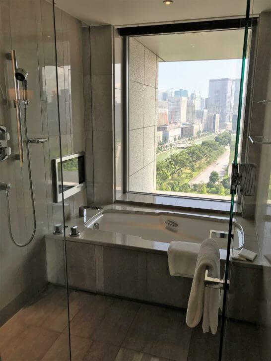 パレスホテル東京のグランドデラックスツインのバスルーム