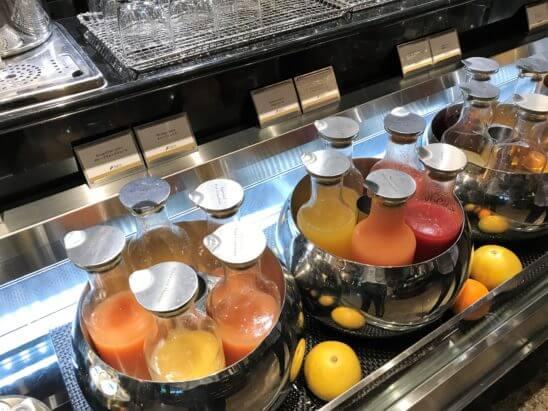 ANAインターコンチネンタルホテル東京の朝食のフレッシュ・ジュース