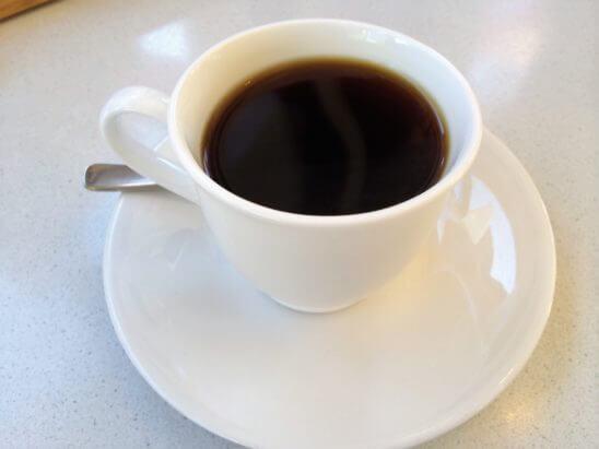 不二家レストランのコーヒー