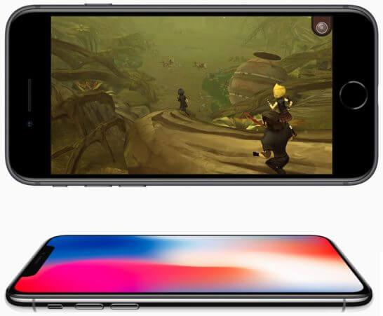 iPhone 8とiPhone X