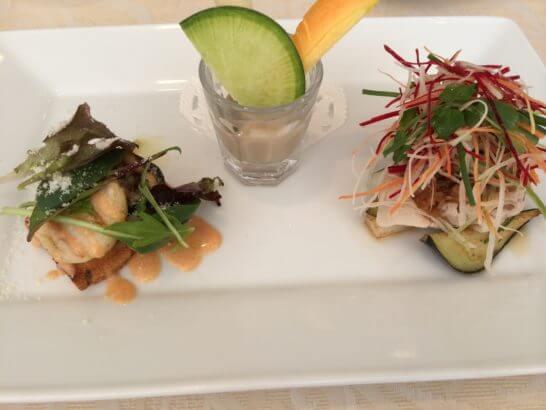 キハチのコース料理 (前菜)