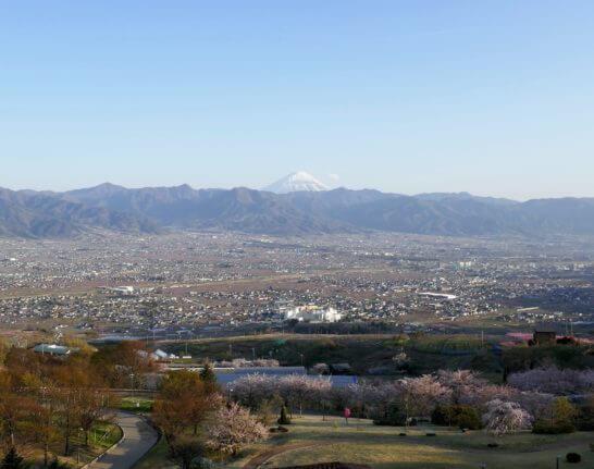 フルーツパーク富士屋ホテルから見える富士山