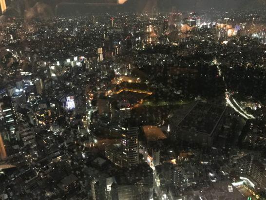 ザ・リッツ・カールトン東京のクラブラウンジの夜景