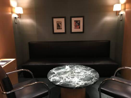 クラブ オン ザ パークのエステ・トリートメントの待合室