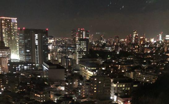 東京マリオットホテルの客室の夜景