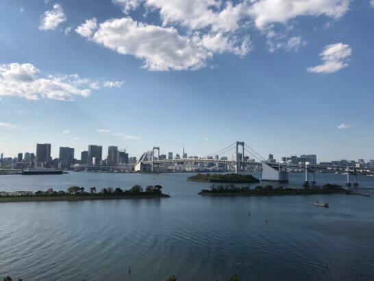 東京の湾岸の景色