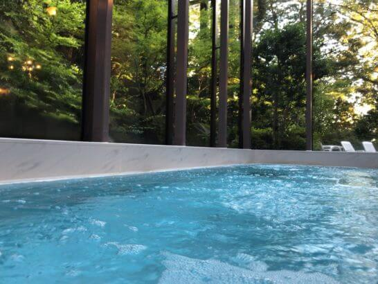 椿山荘東京のプールのジャグジー