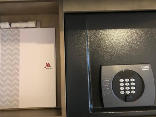 東京マリオットホテルの金庫