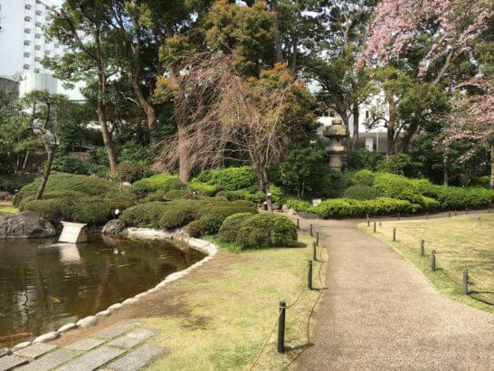 グランドプリンスホテル新高輪の庭園