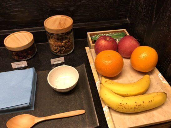 アンダーズ東京のスパのお菓子・果物