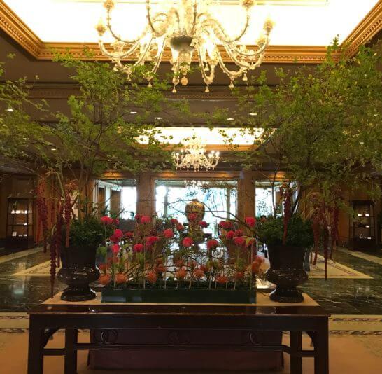ホテル椿山荘東京の入り口