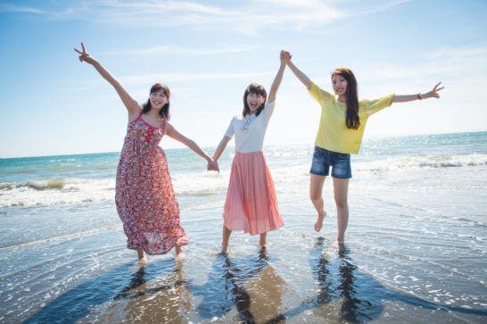 海外旅行中の日本人女性