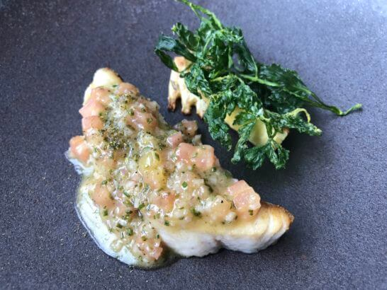 コンラッド東京のコラージュの魚料理