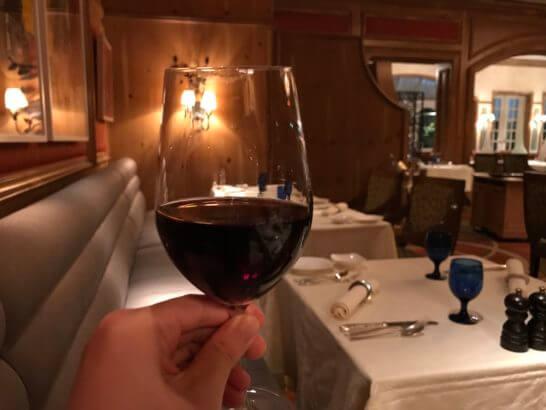 ザ・リッツ・カールトン大阪のスプレンディードの赤ワイン