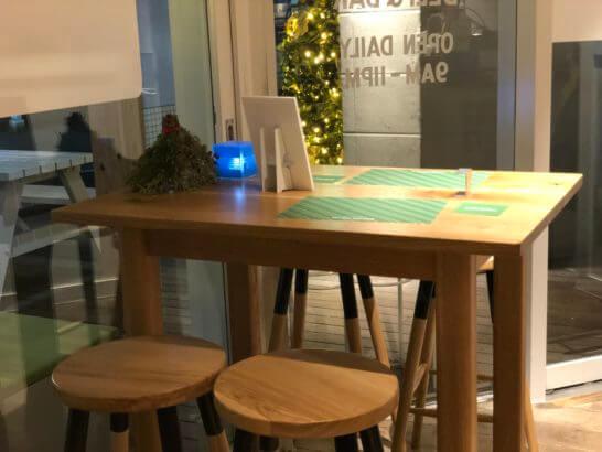 SIGN ALDAYSのテーブル