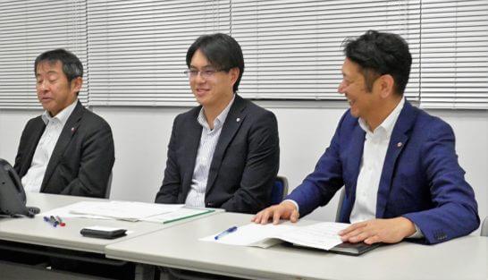 SMBC日興証券の林課長、鈴木課長、山口さん