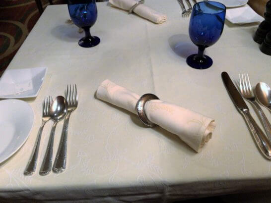 ザ・リッツ・カールトン大阪のスプレンディードのテーブル