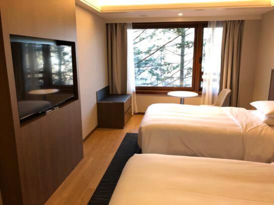 軽井沢マリオットのエグゼクティブスイートの寝室