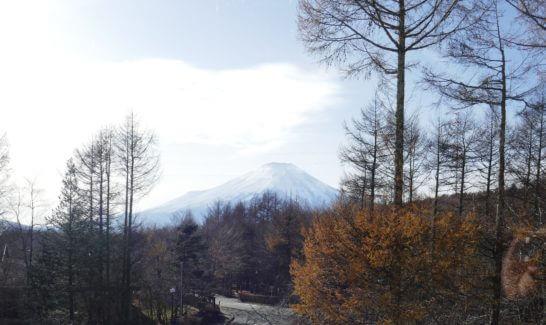 富士マリオットホテルの客室から見える富士山
