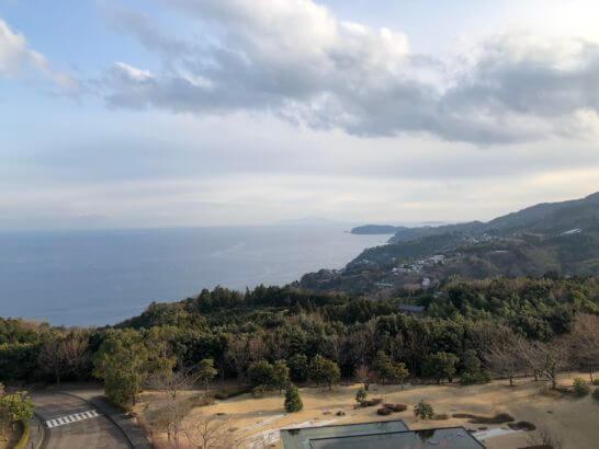ヒルトン小田原の窓からの景色