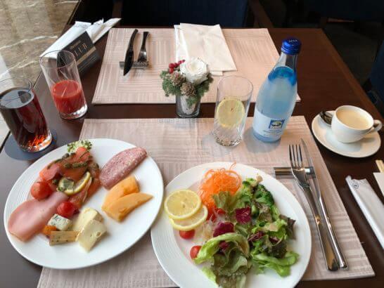横浜ベイシェラトン ホテルのクラブラウンジの朝食