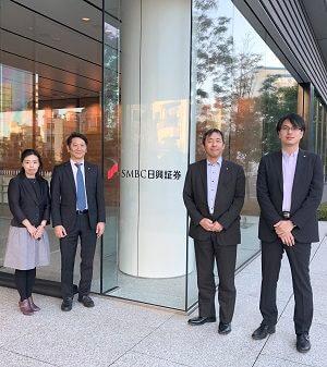 SMBC日興証券の林課長、鈴木課長、山口さん、美根さん