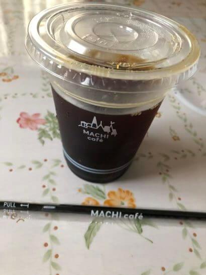 オリガミペイのキャンペーンでもらったローソンのアイスコーヒー(M)