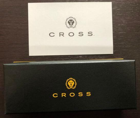 ラグジュアリーカード(ゴールドカード)のウェルカムギフト (CROSSの箱)