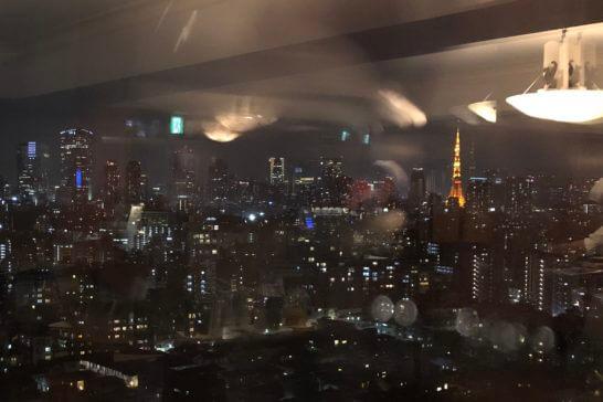 ウェスティンホテル東京のエグゼクティブ クラブラウンジからの夜景
