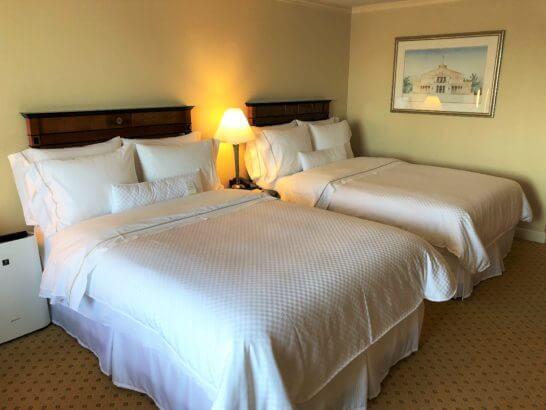 ウェスティンホテル東京のプラチナフロアのベッド