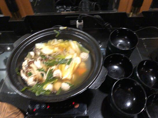 ウェスティンホテル東京のエグゼクティブ クラブラウンジの鍋