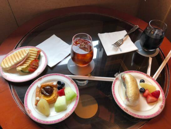 ウェスティンホテル東京のクラブラウンジのティータイム