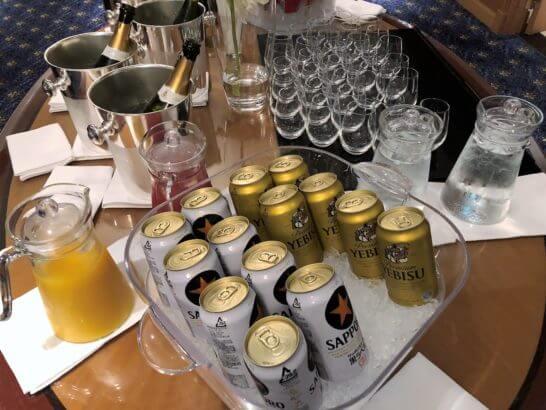 ウェスティンホテル東京 エグゼクティブ クラブラウンジのビール
