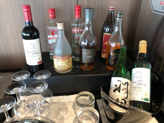 TIAT LOUNGEのワイン・日本酒・洋酒
