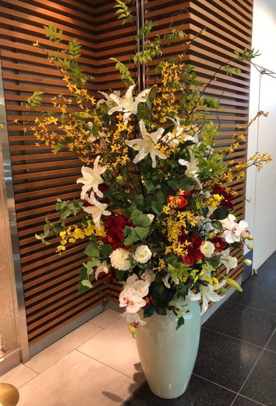 サクララウンジの入り口の花