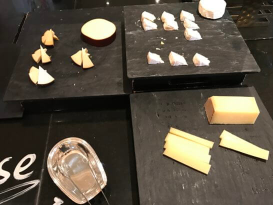 ウェスティンホテル東京のザ・テラスのチーズ