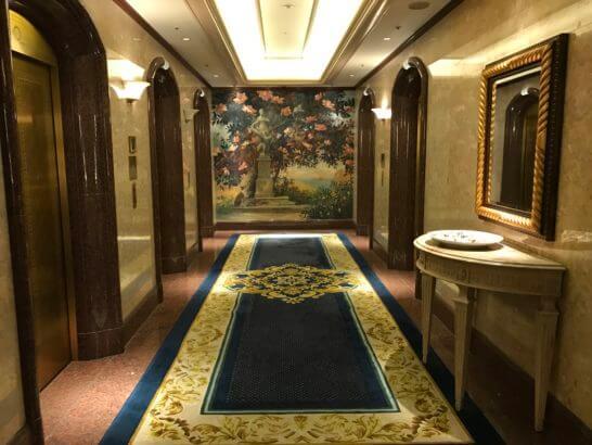 ウェスティンホテル東京のエレベーター
