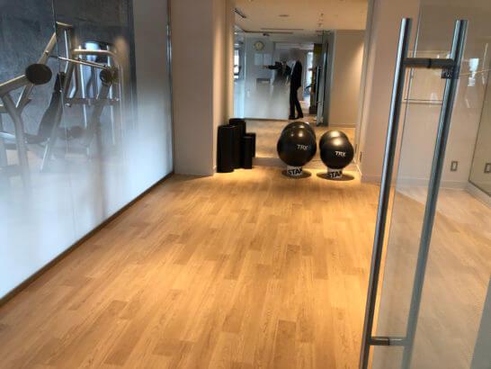 ウェスティンホテル東京のフィットネススタジオのバランスボール