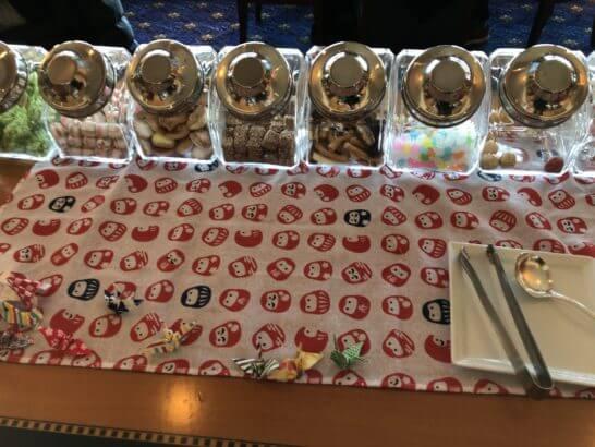 ウェスティンホテル東京のクラブラウンジのクッキー・キャンディ・スナック類