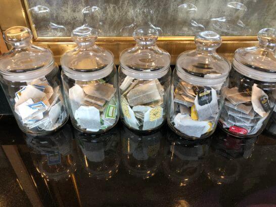 ウェスティンホテル東京のエグゼクティブ クラブラウンジの紅茶